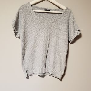 🔥HOT BUY🔥TH Sparkle Gray Short Sleeve Sweater